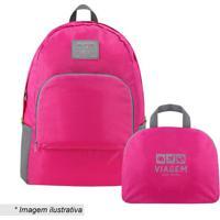 Mochila Dobrã¡Vel- Pink & Cinza- 42X30X13Cm- Jackjacki Design