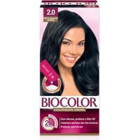 Tintura Biocolor Coloração Creme Preto Azulado 2.0 Mini Kit
