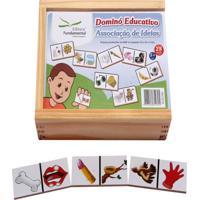 Dominó Educativo Associação De Ideias Jogo Com 28 Peças - Fundamental