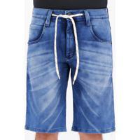 Bermuda Jeans Hd Jogger Azul
