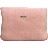 Cobertor Almofada Estampa Rosa
