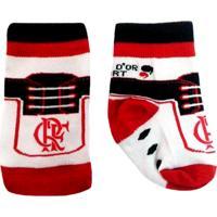 Meia Reve Dor Sport Chuteira Flamengo Branca, Vermelha E Preta