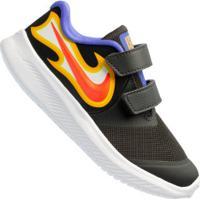 Tênis Nike Star Runner 2 Fire Td - Infantil - Cinza Escuro/Amarelo