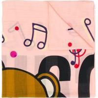 Moschino Echarpe Com Estampa De Logo - Rosa