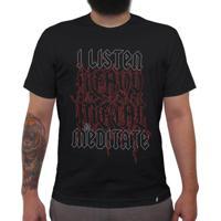 I Listen Heavy Metal To Meditate - Camiseta Clássica Masculina