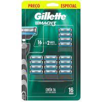 Carga Para Aparelho De Barbear Gillette Mach3 Com 16 Unidades 16 Unidades