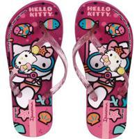 Chinelo Hello Kitty Infantil Para Menina - Rosa