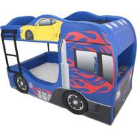 Beliche Prime - Cama Carro Azul - Azul - Menino - Dafiti