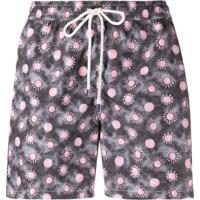 Fedeli Sun-Print Swim Shorts - Cinza