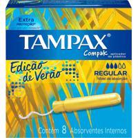 Absorvente Interno Tampax Compak Regular 8 Unidades - Kanui