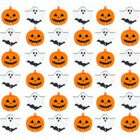 Cortina Decorativa Halloween- Branca & Laranja- 27,7Cromus