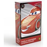 Quebra-Cabeça Com Contorno - Disney - Carros 3 - Relâmpago Mcqueen - Grow - Unissex-Incolor