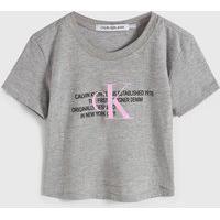 Blusa Calvin Klein Kids Infantil Logo Cinza