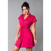 Hobby Mvb Modas Roupão Feminino Noiva Sexy Robe Romantic Rosa