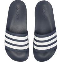 Chinelo Adidas Adilette Shower - Slide - Masculino - Azul Esc/Branco