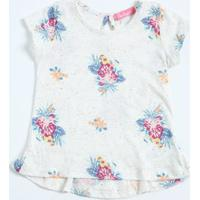 Blusa Infantil Estampa Floral Manga Curta Enchanté