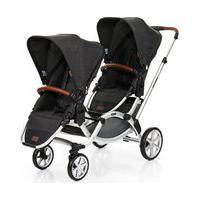 Carrinho De Bebê Para Gêmeos Zoom Piano (6 Meses A 30Kg) Abc Design