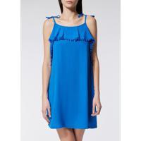 Vestido Pompom - Azul P