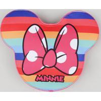 Bolsa Infantil Minnie Com Estampa Arco-Íris Rosa - Único