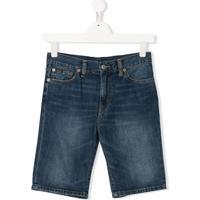 Ralph Lauren Kids Short Jeans Skinny - Azul
