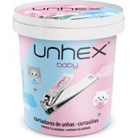 Pote Cortador De Unhas Baby C/ 24 Unidades - Unhex - Mix Hipopótamo / Gatinha - Multicolorido