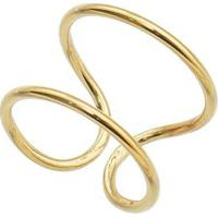 Anel Geomã©Trico Folheado A Ouro- Dourado- Regulã¡Velcarolina Alcaide