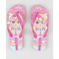 Chinelo Infantil Ipanema Polly Estampado Rosa