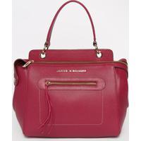 Bolsa Em Couro Com Recortes- Rosa Escuro- 26X32X15Cmjorge Bischoff