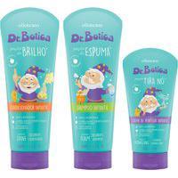 Combo Dr Botica: Shampoo Poção Espuma + Condicionador Poção Brilho + Creme De Pentear Poção Tira Nó