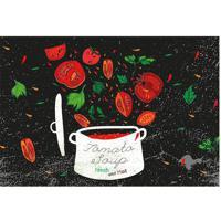 Tapete Transfer Tomates- Vermelho & Preto- 60X40Cm