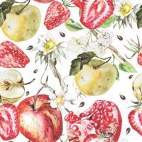 Papel De Parede Adesivo Frutas