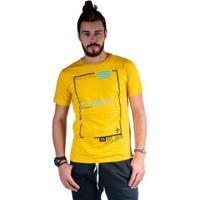 Camiseta Mister Fish Estampado Originals Est 1975 Masculina - Masculino-Mostarda