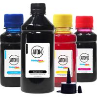 Kit 4 Tintas Para Epson Bulk Ink 196 Black 500Ml Coloridas 100Ml Aton