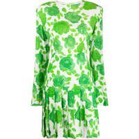 Rowen Rose Vestido Com Pregas E Estampa Floral - Verde