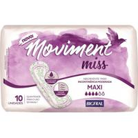 Absorvente Geriátrico Bigfral Moviment Miss Maxi 10 Unidades