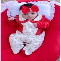 Kit Saída Maternidade 4 Peças Lolo Vermelha