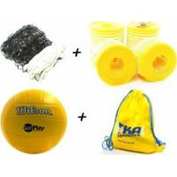 Kit Voleibol 5X1 1Rede4Faixas 1Caboaco 1Marcador 1Mochila 1Bola Wilson - Pangué