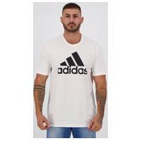 Camiseta Adidas Logo Branca E Preta