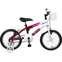 Bicicleta Master Bike Aro 16 Feminina Free Girl Roxo