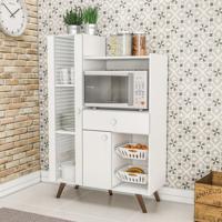 Balcão De Cozinha Multiuso 2 Portas 1 Gaveta Rt 3059 Branco - Móvel Bento