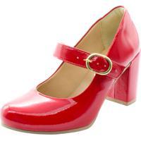 Sapato Madale Boneca Salto Verniz Vermelho