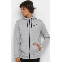 Blusão Nike Dri-Fit Fz Fleece Masculino - Masculino-Cinza