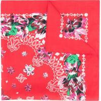 Kenzo Lenço Bandana Floral - Vermelho