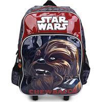 Mochila Infantil Luxcel Star Wars Chewbacca Com Rodinhas - Masculino