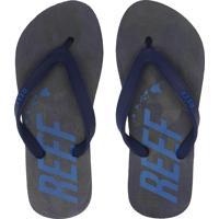 Chinelo Reef Switchfoot Camo Azul-Marinho