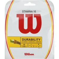 Corda Para Raquete De Tênis Wilson Stamina 16 - 11,7M - Branco