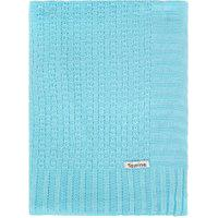 Manta Cobertor De Berço Tricô Tamine Luxo Azul Bebê