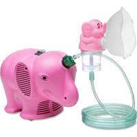 Inalador / Nebulizador Ns Inalafante Bivolt Rosa Com Protetor Térmico