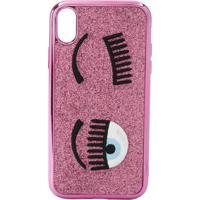 Chiara Ferragni Flirting Embroidered Iphone Xr Case - Rosa