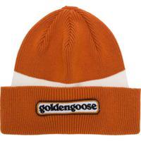 Golden Goose Gorro Com Logo - Laranja